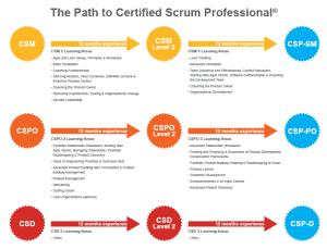 Pfade zum Certified Scrum Professional CSP