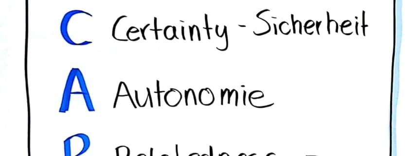Die 5 SCARF Faktoren: Status, Certainty, Autonomy, Relatedness, Fairness