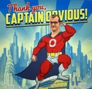 Agile Coach Armin als Comic Superheldenfigur Captain Obvious.