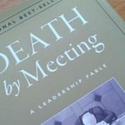 "Foto des Buches ""Death by Meeting"""