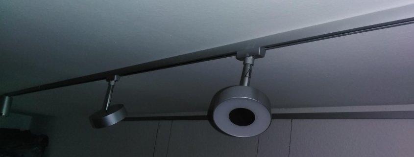 Lampe mit Schienensystem